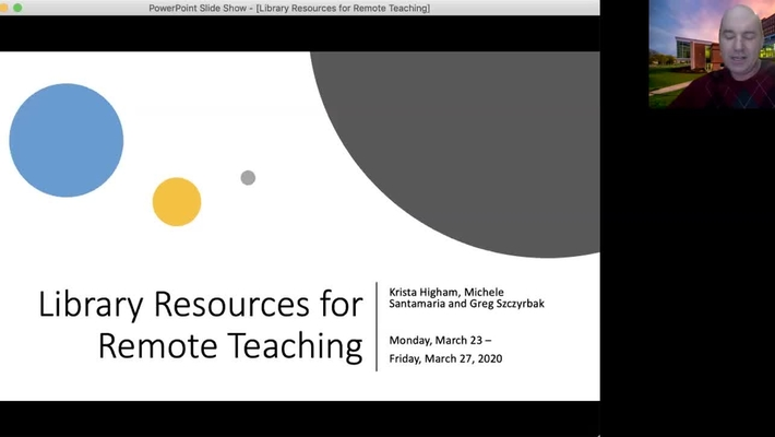 Library Resources for Remote Teaching
