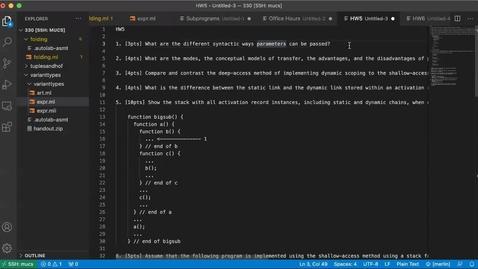 Thumbnail for entry Homework 5 Solution [Apr 29] [CSCI 330.50]