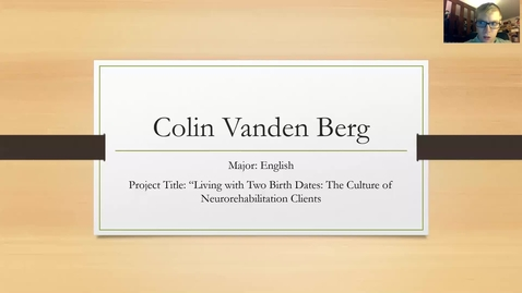 Thumbnail for entry Colin_VandenBerg Living with Two Birthdates