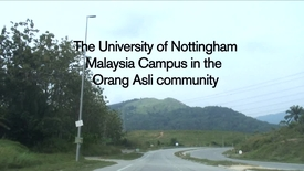 UNMC students at work in the Orang Asli community