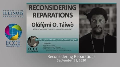 Thumbnail for entry Reconsidering Reparations - Olúfẹ́mi O. Táíwò