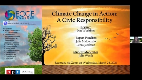 Thumbnail for entry ECCE Speaker Series - Climate Change Action: A Civic Responsibility
