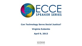 Thumbnail for entry Can Technology Serve Social  Justice? - Virginia  Eubanks
