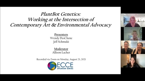 Thumbnail for entry PlantBot Genetics: Working at the Intersection of Contemporary Art and Environmental Advocacy