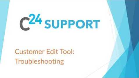 Thumbnail for entry cielo24 Customer Edit Tool: Troubleshooting