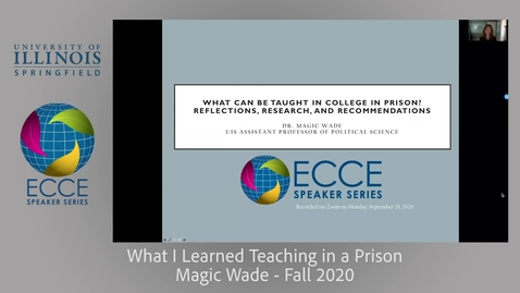 Thumbnail for entry What Can Be Taught in College in Prison? Reflections, Research, and Recommendations - Magic Wade