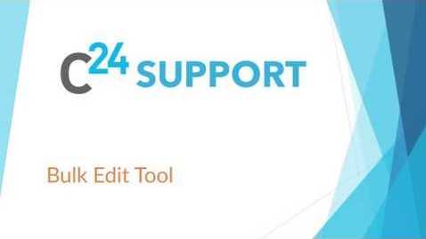 Thumbnail for entry cielo24 Customer Edit Tool: Bulk Edit