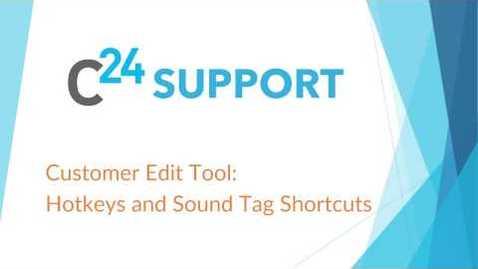 Thumbnail for entry cielo24 Customer Edit Tool: Hotkeys and Sound Tag Shortcuts