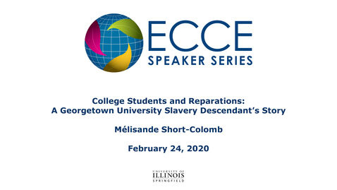 Thumbnail for entry College Students and Reparations: A Georgetown University Slavery Descendant's Story - Mélisande Short-Colomb
