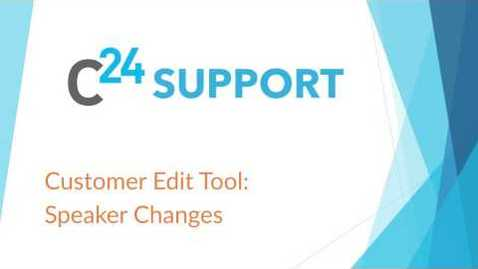 Thumbnail for entry cielo24 Customer Edit Tool: Speaker Changes