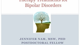 Thumbnail for entry Mood Dialog Day 2013: J.Nam-Psychotherapy In Mood Disorders