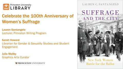 Thumbnail for entry Celebrate the 100th Anniversary of Women's Suffrage
