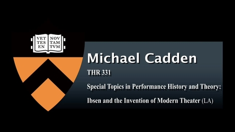 Thumbnail for entry THR 331- Special Topics in Performance History and Theory: I