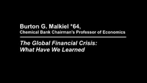 Thumbnail for entry The Global Financial Crisis: What Have We Learned