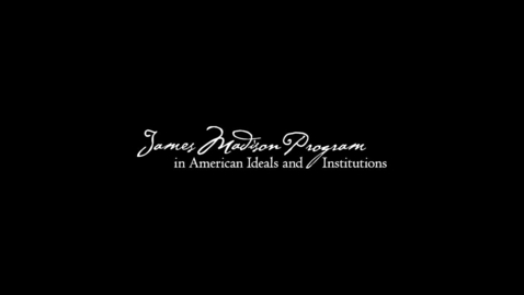 """Thumbnail for entry James Madison Program - """"Does America Have a Middle East Strategy?"""" - Michael Doran *97"""