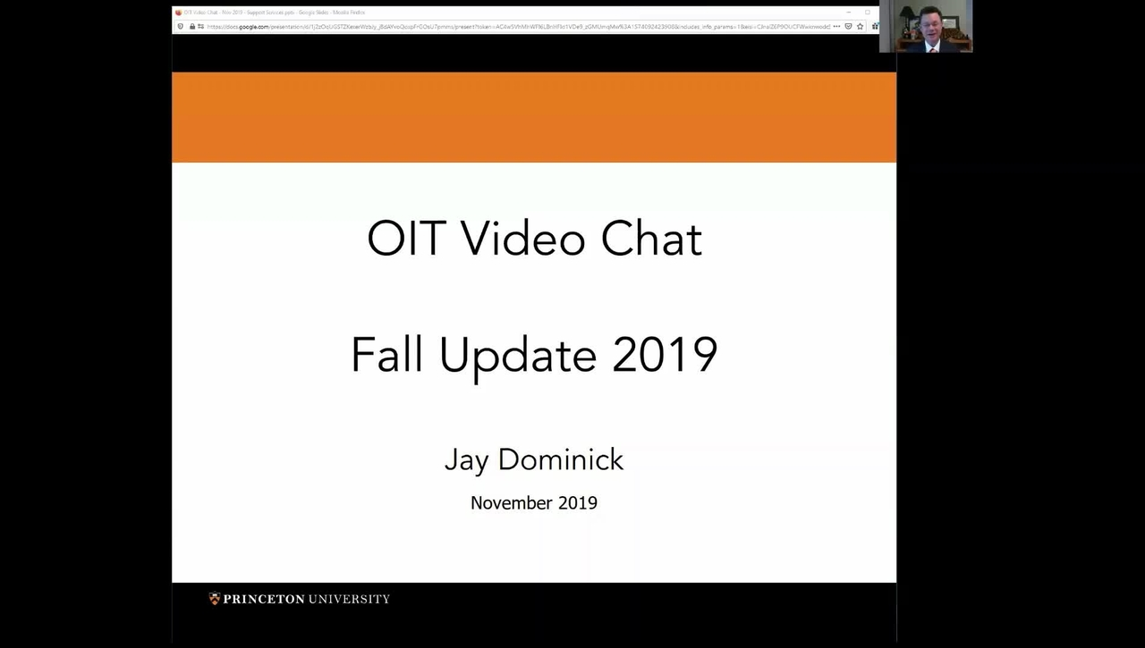 OIT Video Chat with Jay Dominick