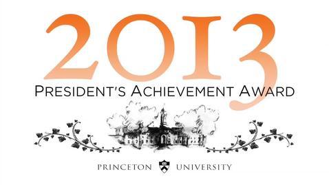 Thumbnail for entry 2013 President's Achievement Award