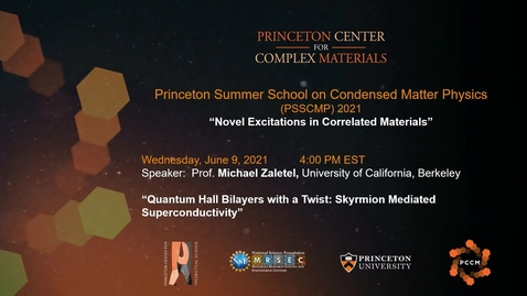 Thumbnail for entry Quantum hall bilayers with a twist-skyrmion mediated superconductivity
