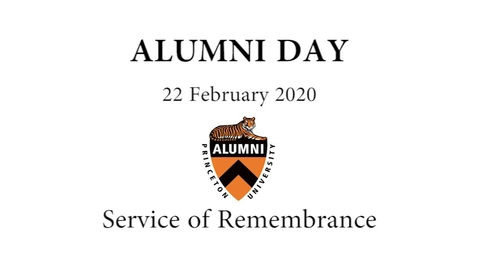Thumbnail for entry Alumni Day 2020: Service of Remembrance