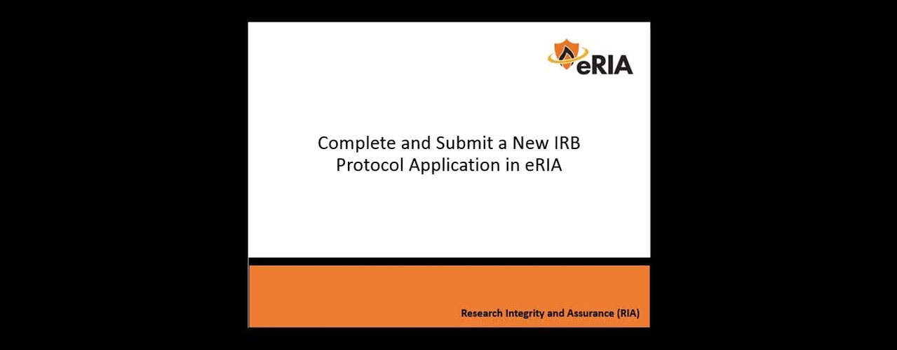 Complete and Submit a New IRB Application Project - FINAL