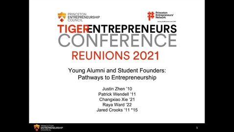 Thumbnail for entry Young Alumni and Student Founders: Pathways to Entrepreneurship
