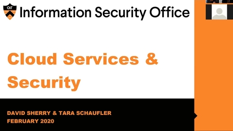 Thumbnail for entry Webinar: Cloud Services & Security - February 27, 2020