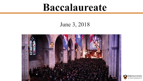 Thumbnail for entry Baccalaureate 2018