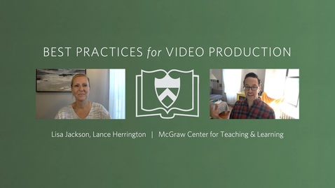 Thumbnail for entry Best Practices for Video Production