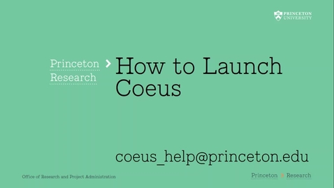 Thumbnail for entry 1.2 How to Launch Coeus Premium