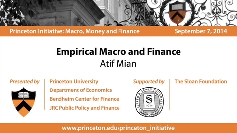 Thumbnail for entry Empirical Macro and Finance