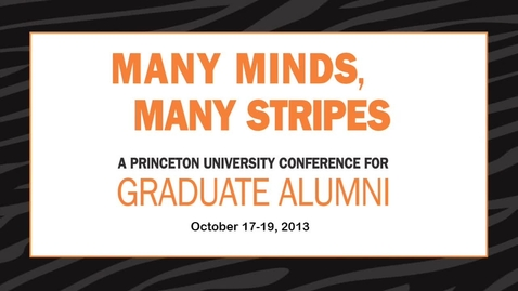 Thumbnail for entry Many Minds, Many Stripes Conversation with President Christopher L. Eisgruber '83