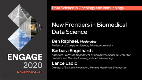 Thumbnail for entry Data Science in Oncology and Immunology: New Frontiers in Biomedical Data Science