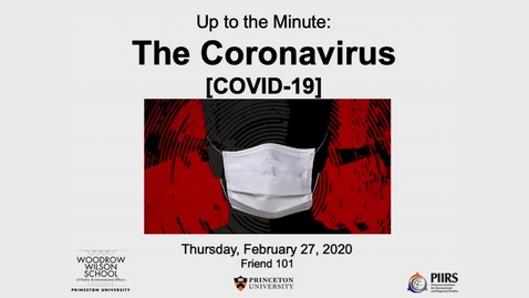 Thumbnail for entry Global Systemic Risk: Coronavirus Panel Discussion - February 27, 2020