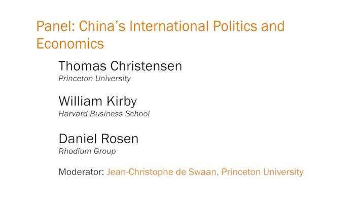 Panel: China's International Politics and Economics