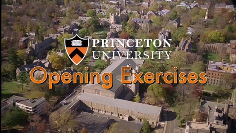 Thumbnail for entry Opening Exercises 2012: A University Convocation