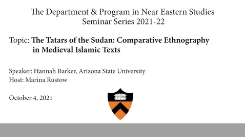 Thumbnail for entry The Tatars of the Sudan- Comparative Ethnography in Medieval Islamic Texts