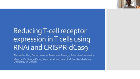 Thumbnail for entry Reducing T-cell receptor expression in T cells using RNAi and CRISPR-dCas9