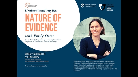 Thumbnail for entry Nature of Evidence with Emily Oster
