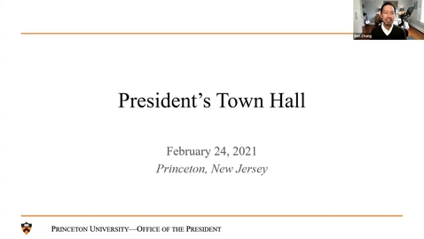 Thumbnail for entry President's Town Hall 2/24/21