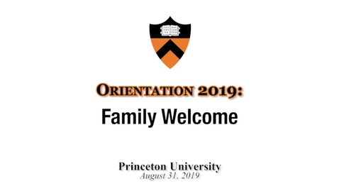 Thumbnail for entry Orientation 2019: Family Welcome