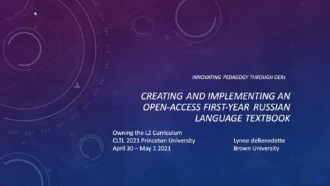 Thumbnail for entry CLTL Symposium 2021 Day 1 Lynne deBenedette