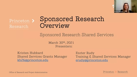 Thumbnail for entry Sponsored Research Overview for Shared Services (3-30-21)