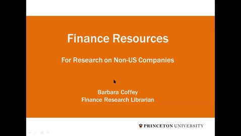 Thumbnail for entry JIW Finance Non Domestic Companies Data Resources