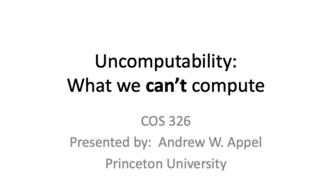 Thumbnail for entry cos326-2020-11-02-uncomputability