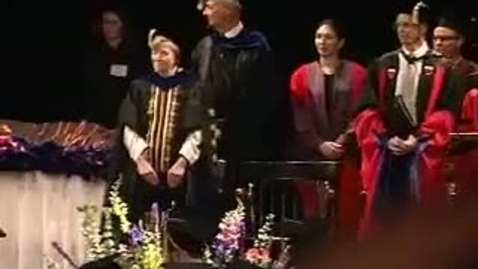 Thumbnail for entry Hooding Ceremony 2003