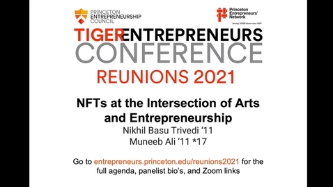 Thumbnail for entry Workshop: NFTs at the Intersection of Arts and Entrepreneurship