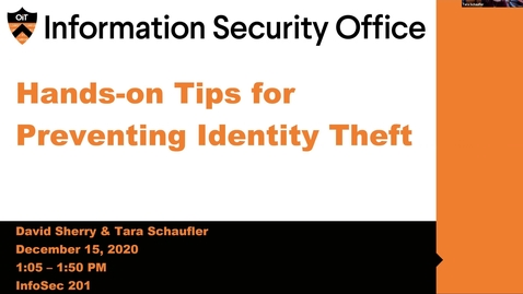 Thumbnail for entry Webinar: Hands-on Tips for Preventing Identity Theft