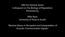 "Thumbnail for entry ""Receiver Biases in Perception and Interpretation of Acoustic Communication Signals"""