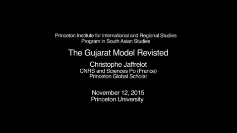 Thumbnail for entry The Gujarat Model Revisited