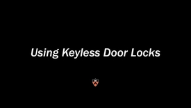 Thumbnail for entry Keyless Locks